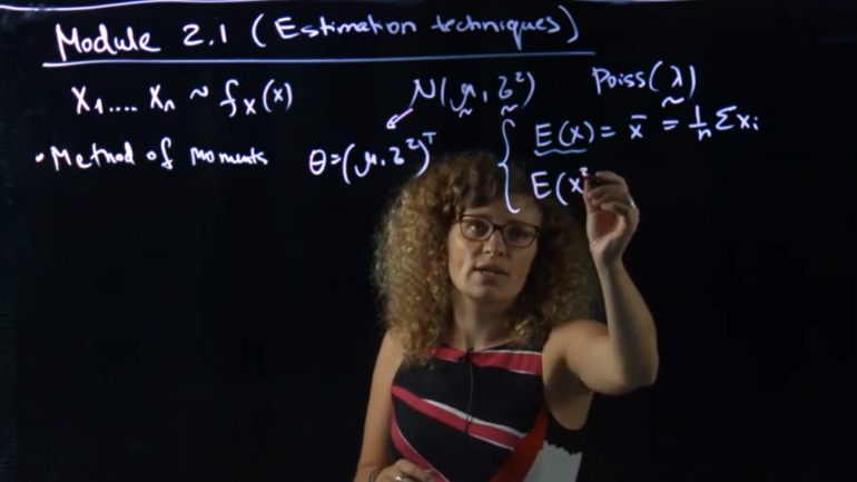 UNSW academic using lightboard to teach