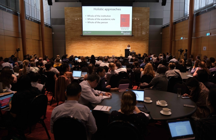 Photo of Keynote presentation at 2019 Learning and Teaching Forum