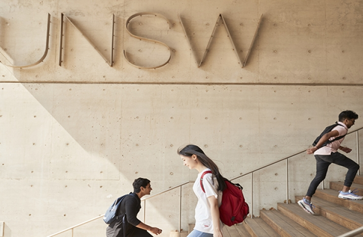UNSW students on campus